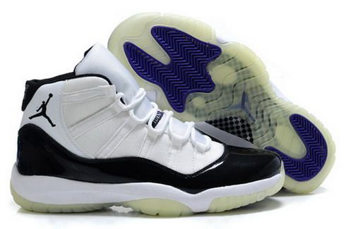 Mens Nike Air Jordan 11 Luminous Shoes - White/Black [Mens Air Jordan 11