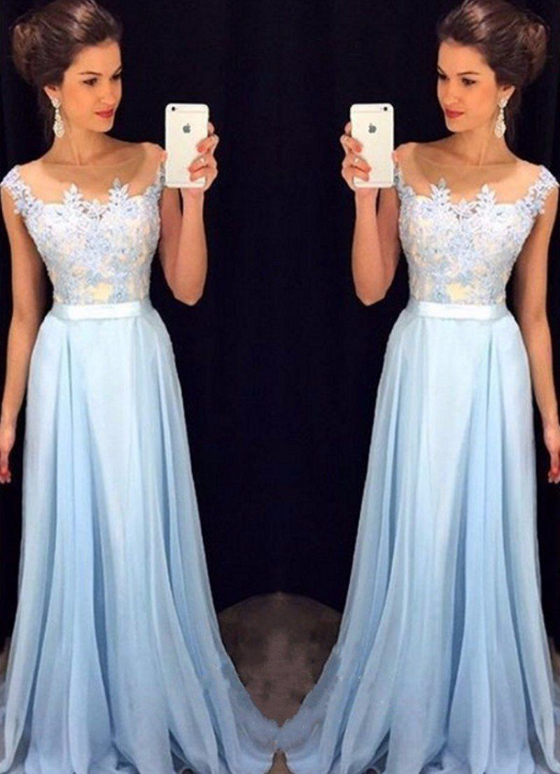 E appliques bridesmaid dresses chiffon bridesmaid dresses long