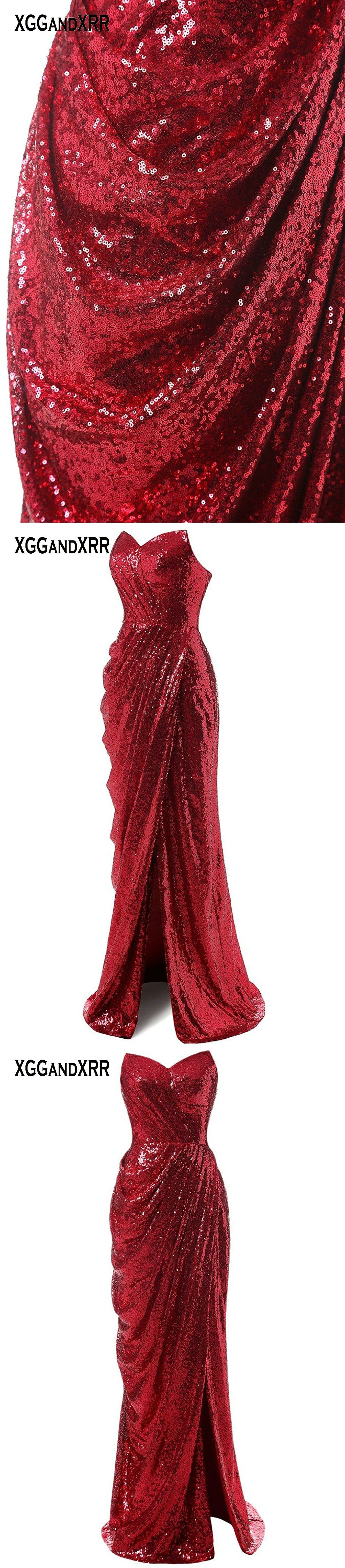 New arrival sexy mermaid prom dresses shining fabric long formal
