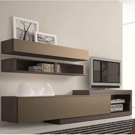 Meuble tv design taupe neva atylia meuble tv design for Atylia meuble tv