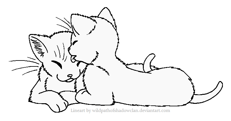Sharing Tongues Lineart By Wildpathofshadowclan Deviantart Com On