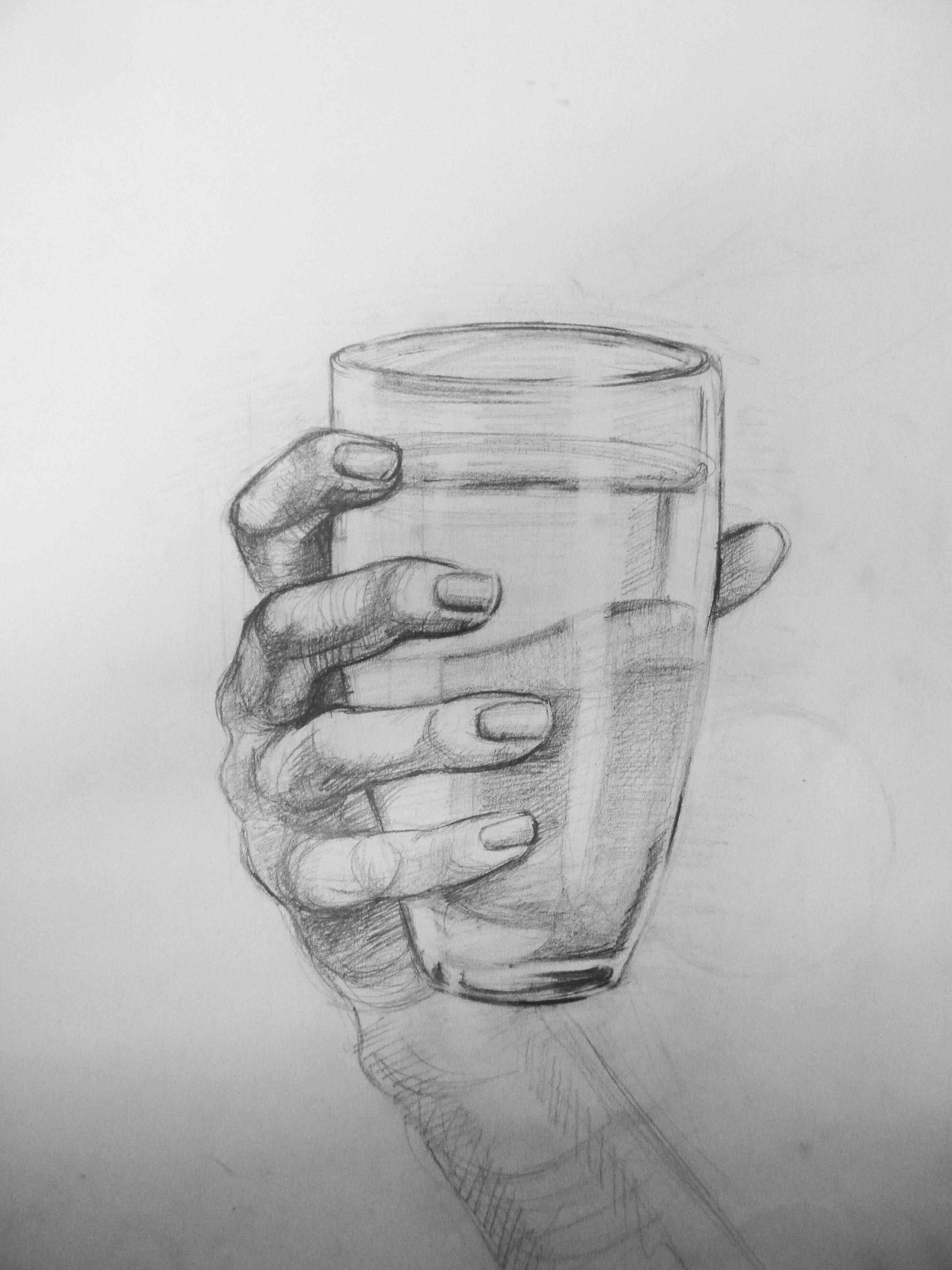 Bardak Tutan El çizimi Googleda Ara Grafik How To Draw Hands