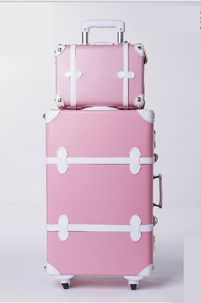 Luggage wheels women travel suitcases luggage bag abs luggage rolling - Cute Vintage Orange 20 Quot Carry On Wheeled Luggage Amp 12