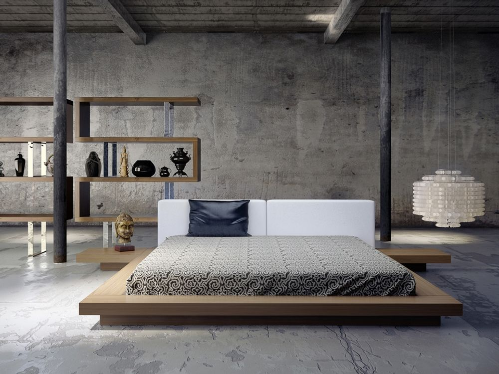 online retailer fbe4e 2a76a Tokyo Platform Bed + 2 Nightstands | House | Japanese ...