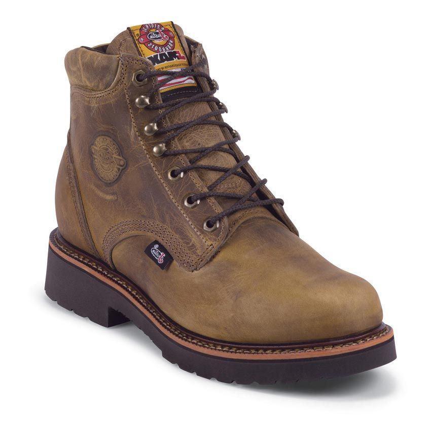 "Justin Men's Rugged 6"" Lace Up Work Boots"