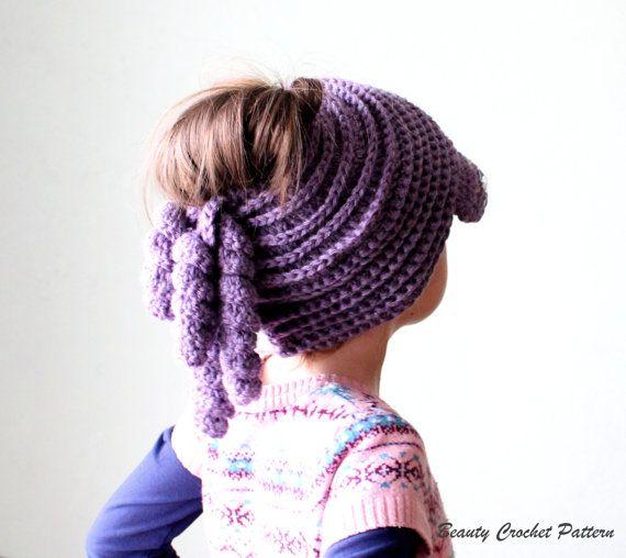 Messy Bun Hat Crochet Pattern Messy Bun by BeautyCrochetPattern ...