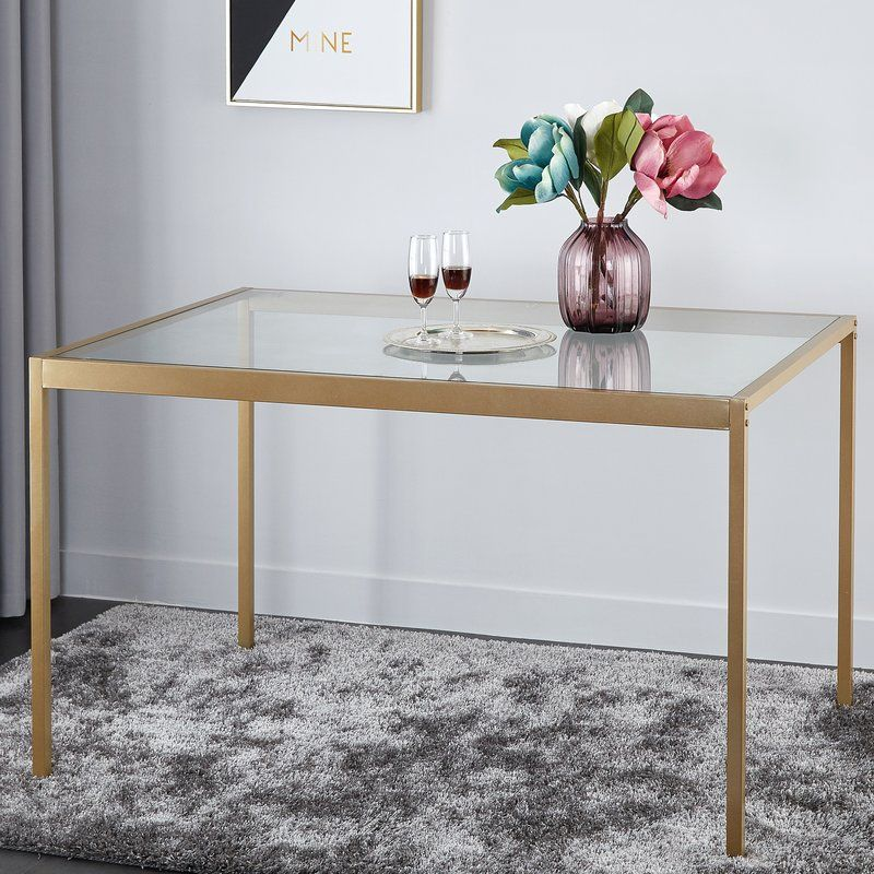 Wickliffe Dining Table Gold Metal Dining Table Dining Table