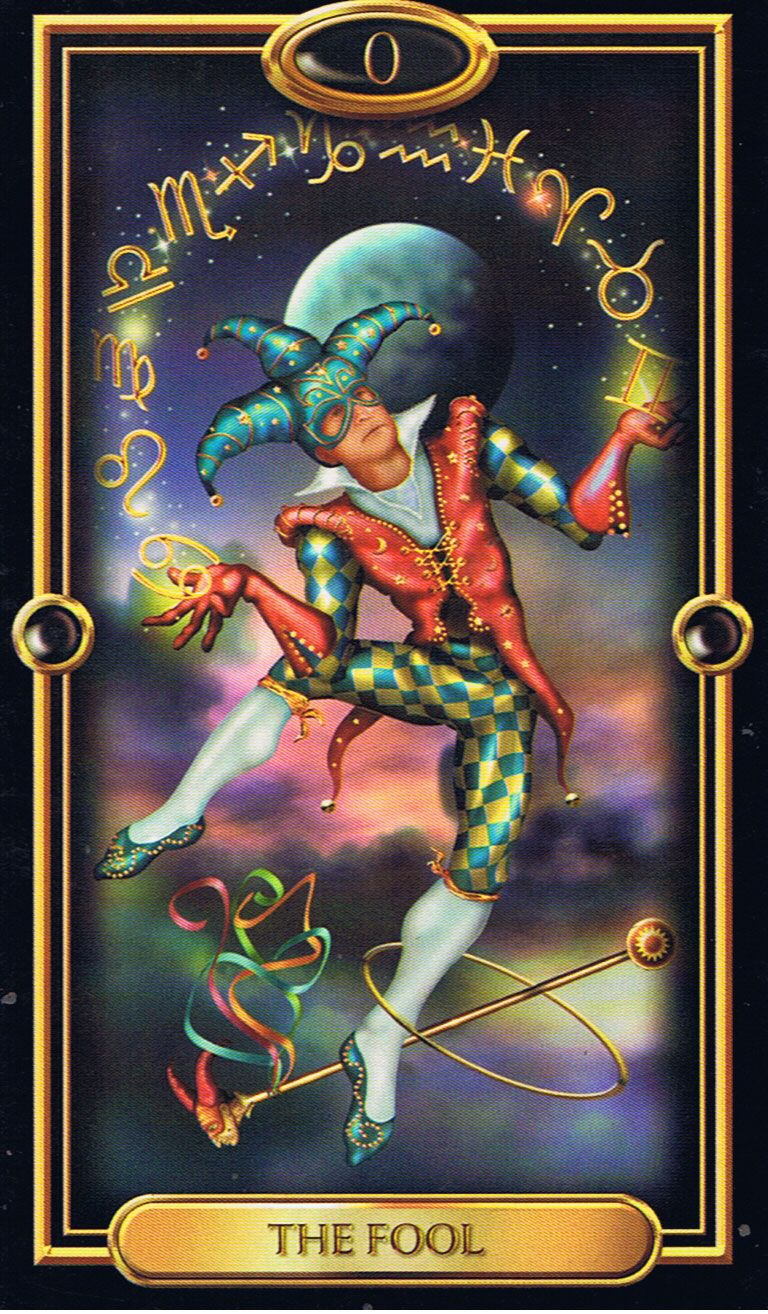 9d4d6e60c7abe1 Harlequin   The Fool, Gilded Tarot Find out what the Fool means for you   www.tarotbyemail.com