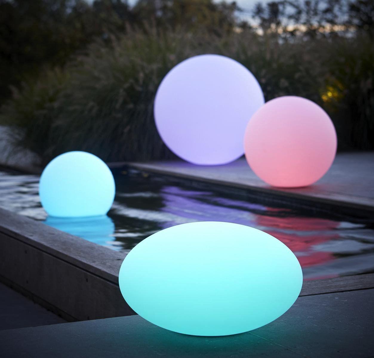 Lampadaire Lampes Borne Jardin Boule Lumineuse Lumineux Led