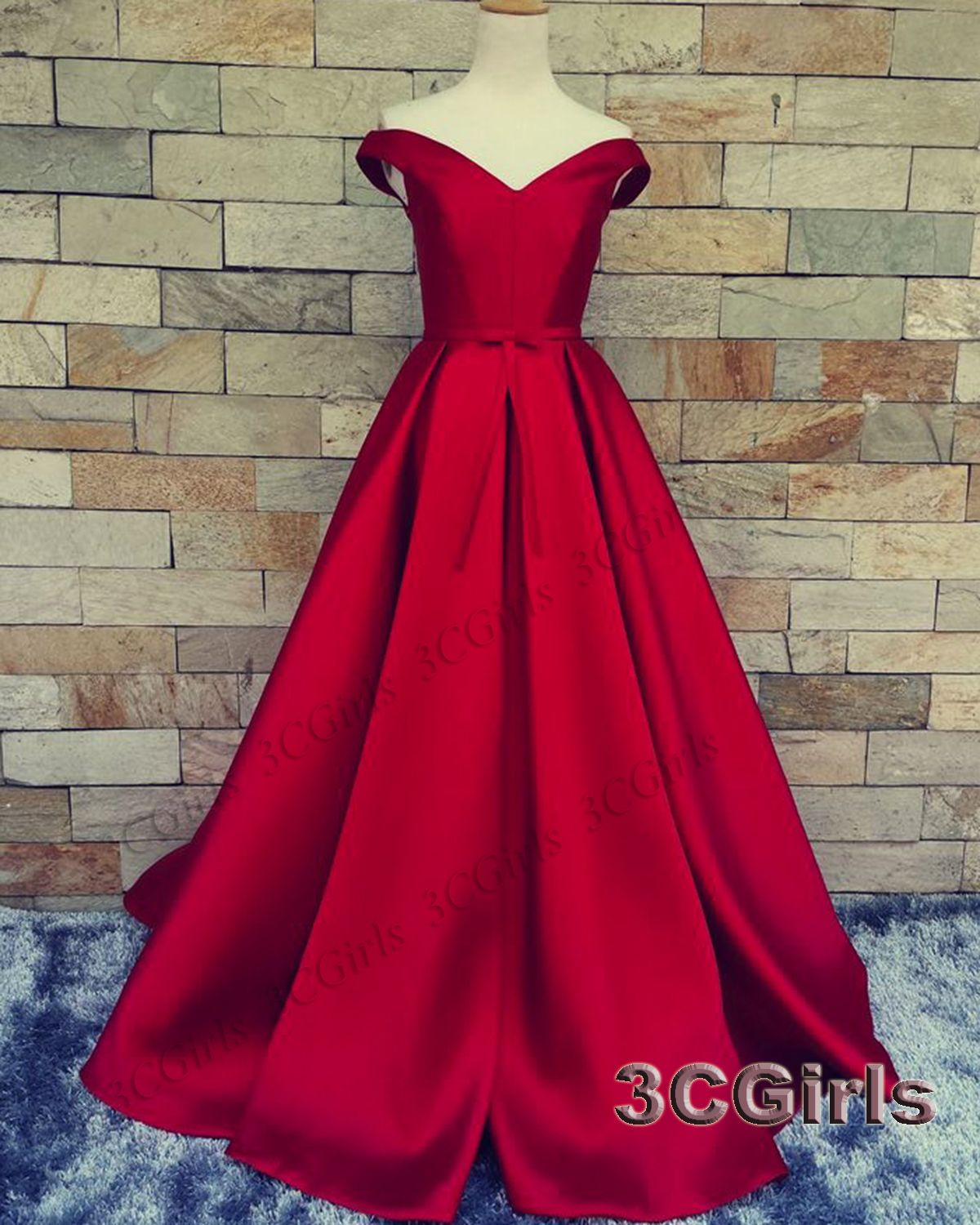 off the shoulder prom dresses red