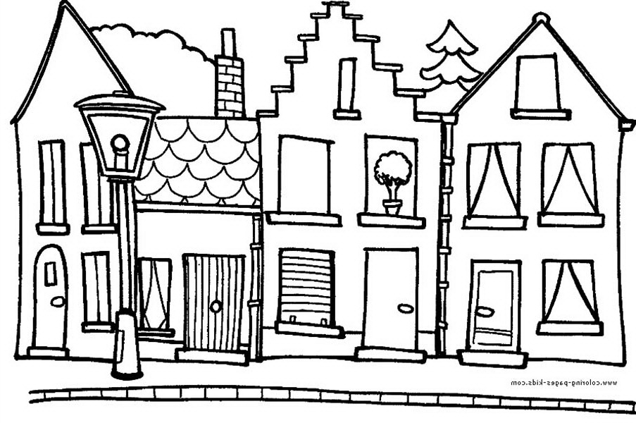 Hometown House In Houses Coloring Page Color Luna House Colouring Pages Coloring Pages House Colouring Pictures