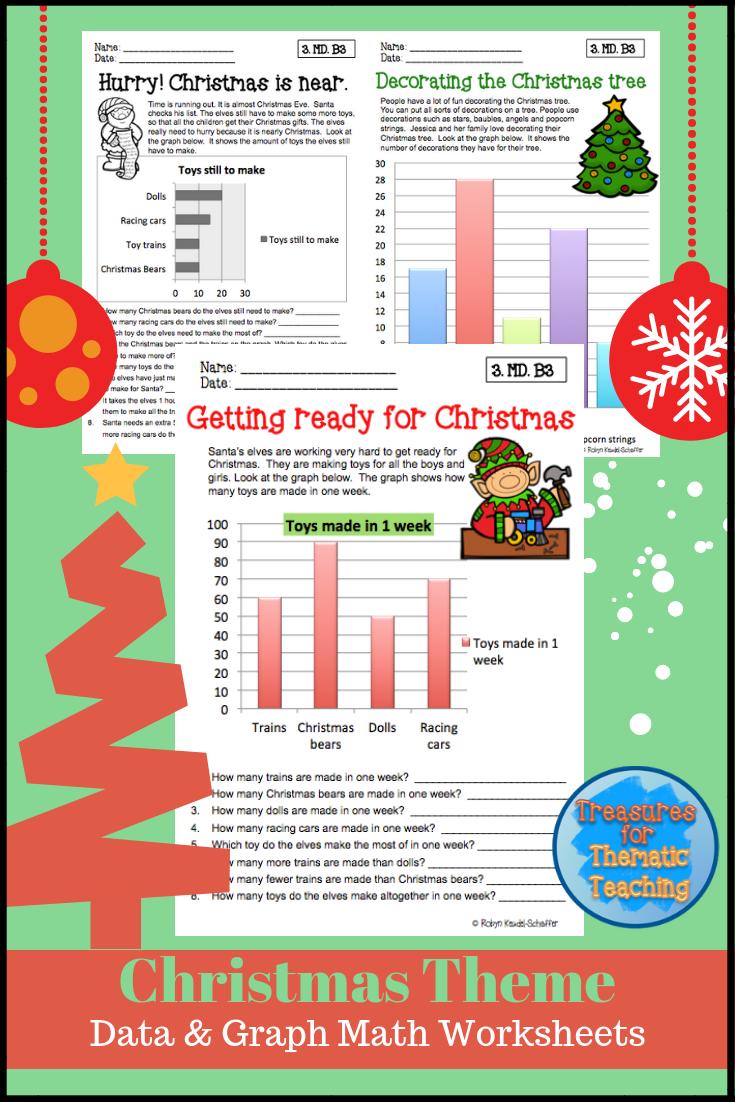 Christmas Math Data And Graph Worksheets Grade 3 Christmas Math Graphing Reading Graphs [ 1102 x 735 Pixel ]