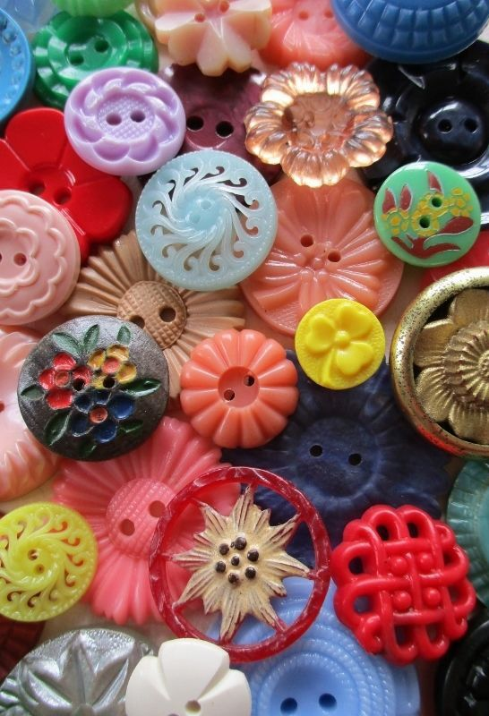 Colourful Vintage Buttons