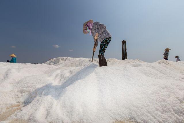 Sea Salt harvesting in Phan Thiet http://goo.gl/Drz3JW  Mùa thu hoạch trên cánh đồng muối bên bờ biển Phan Thiết. http://goo.gl/LhrGgD  #DicoveringPhanThiet #TheCliffResort