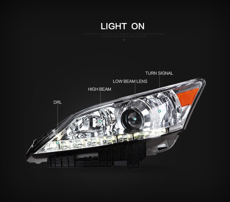 Vland Car Light For Lexus Es250 Es350 2007 2012 Head Lamps Vland Es250headlights Es250headlamps Lexus Car Accessories Lexus Ls 460