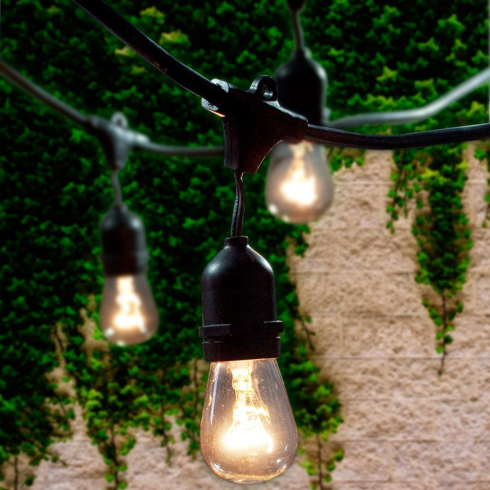 Bulbrite string15e26 s14kt 48 ft outdoor incandescent string light outdoor incandescent string light bring some glow to your next outdoor bash with the bulbrite 48 ft these commercial grade aloadofball Image collections
