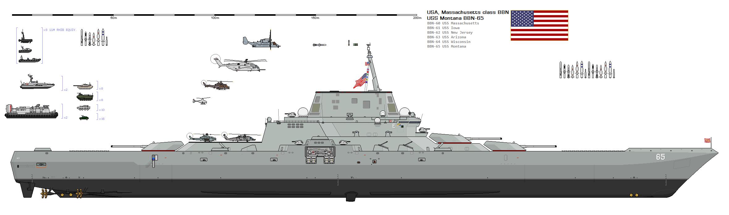 Modern Battleship Concept BBN-65 USS Montana by SILVER ... Modern Us Battleship Design