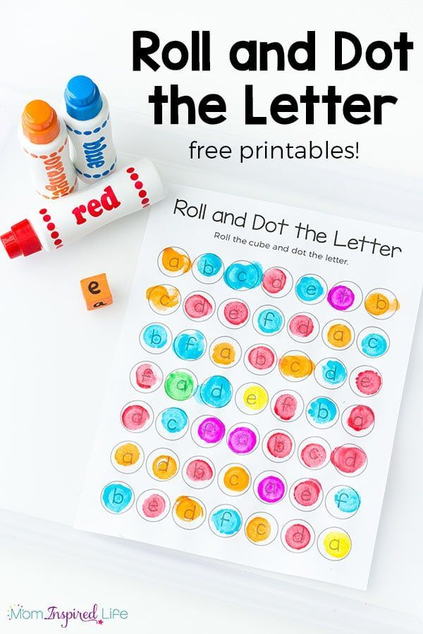 Roll and Dot the Letter Alphabet Activity and Printable   Pinterest ...