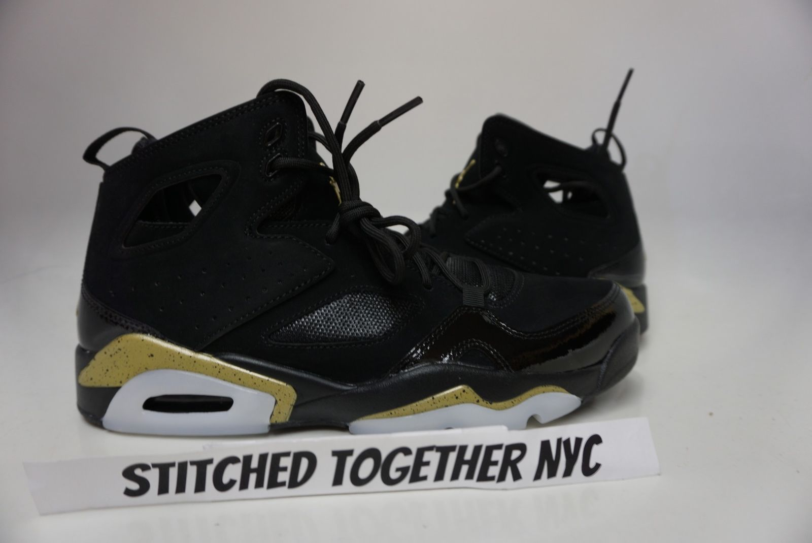 555475-031) MENS AIR JORDAN FLIGHT CLUB 91 BLACK METALLIC GOLD WHITE ... faa4c633e