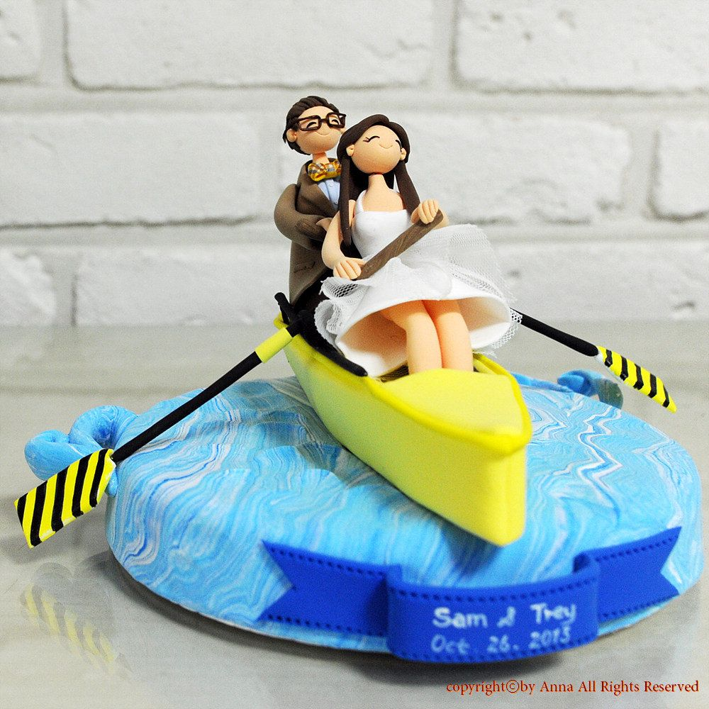 boat wedding cake topper sport of rowing boat custom wedding cake topper decoration 12065