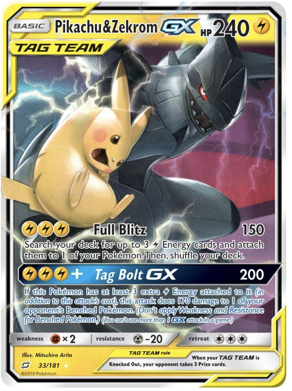 Carte Pokemon Gx A Imprimer : carte, pokemon, imprimer, Pokemon, Pikachu, Zekrom, 33/181, Ultra, Imprimer, Carte, Pokemon,, Dracaufeu