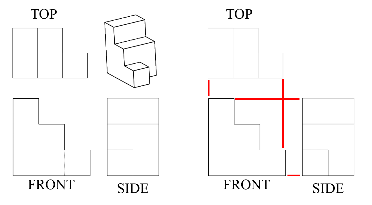 hight resolution of Seeing All Sides: Orthographic Drawing - Activity   Geometric drawing