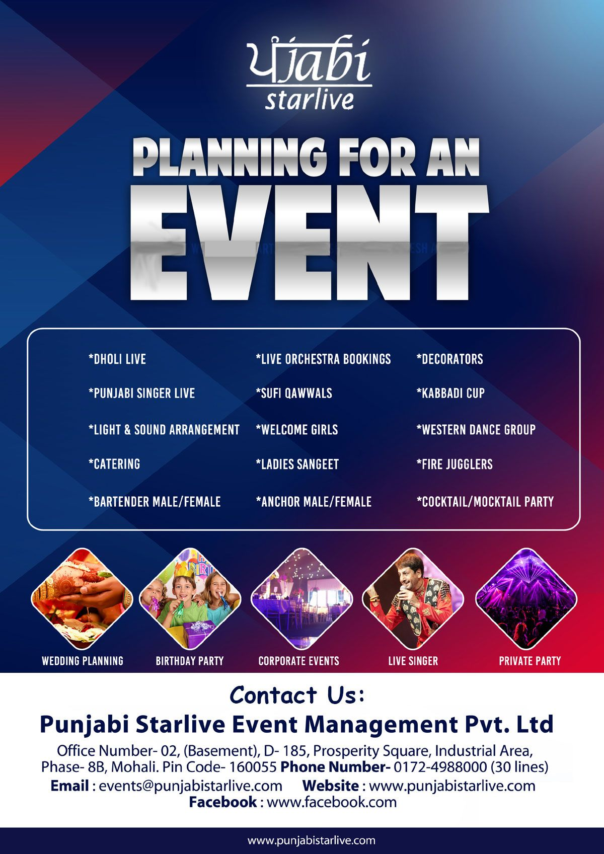 Classy and high class decoration with punjabi starlive top - Plan it event design and management ...