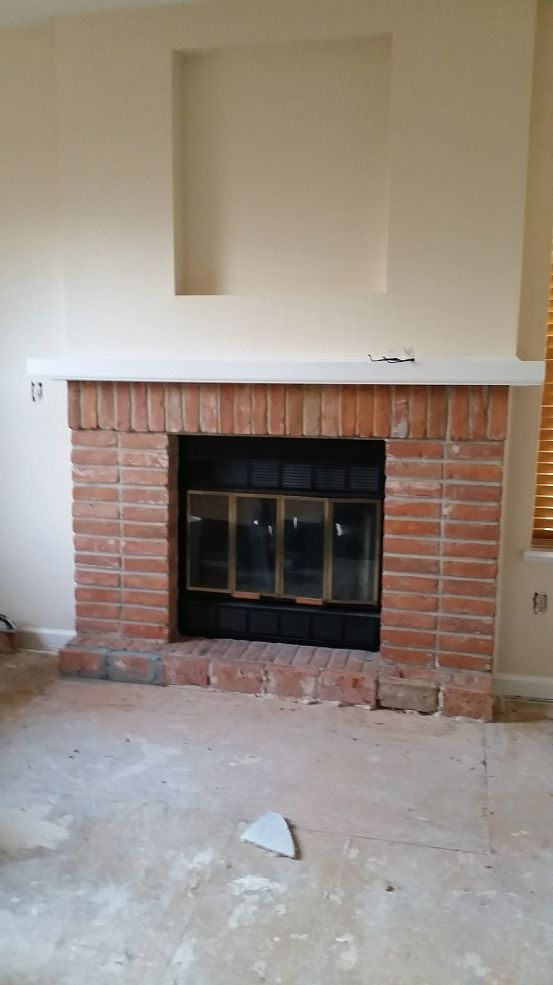 Looking For Ideas For My Old Fireplace   I Have This Old Red Brick Fire  Place