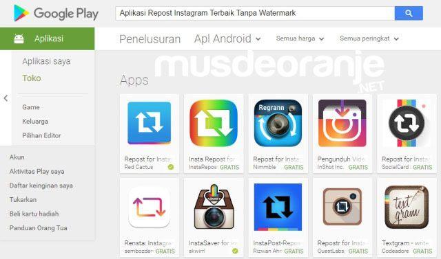 Musdeoranje Net Aplikasi Repost Instagram Terbaik Tanpa Watermark Instagram Google Play Aplikasi