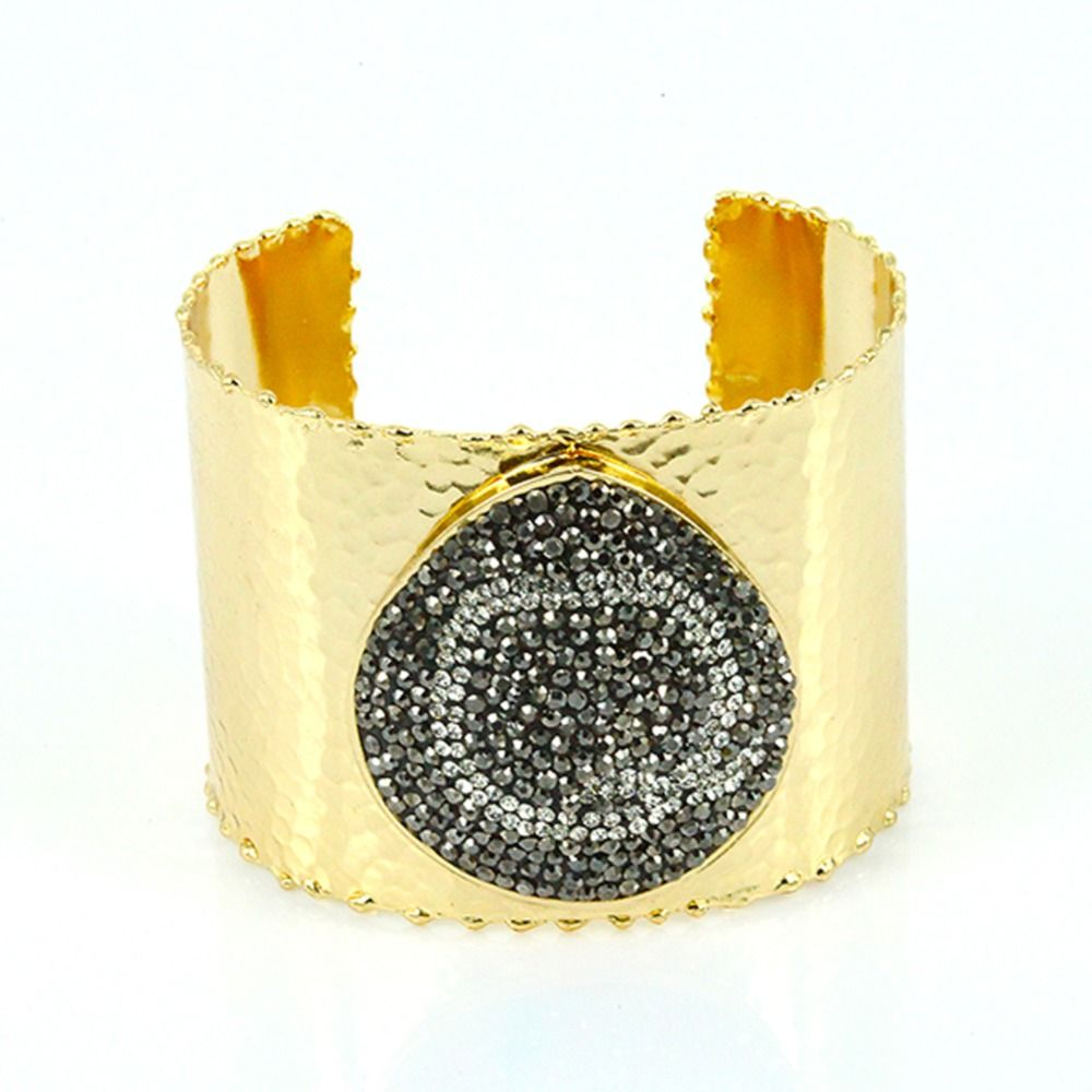 Click to buy ucuc f q y letter pattern bangle for women and men k