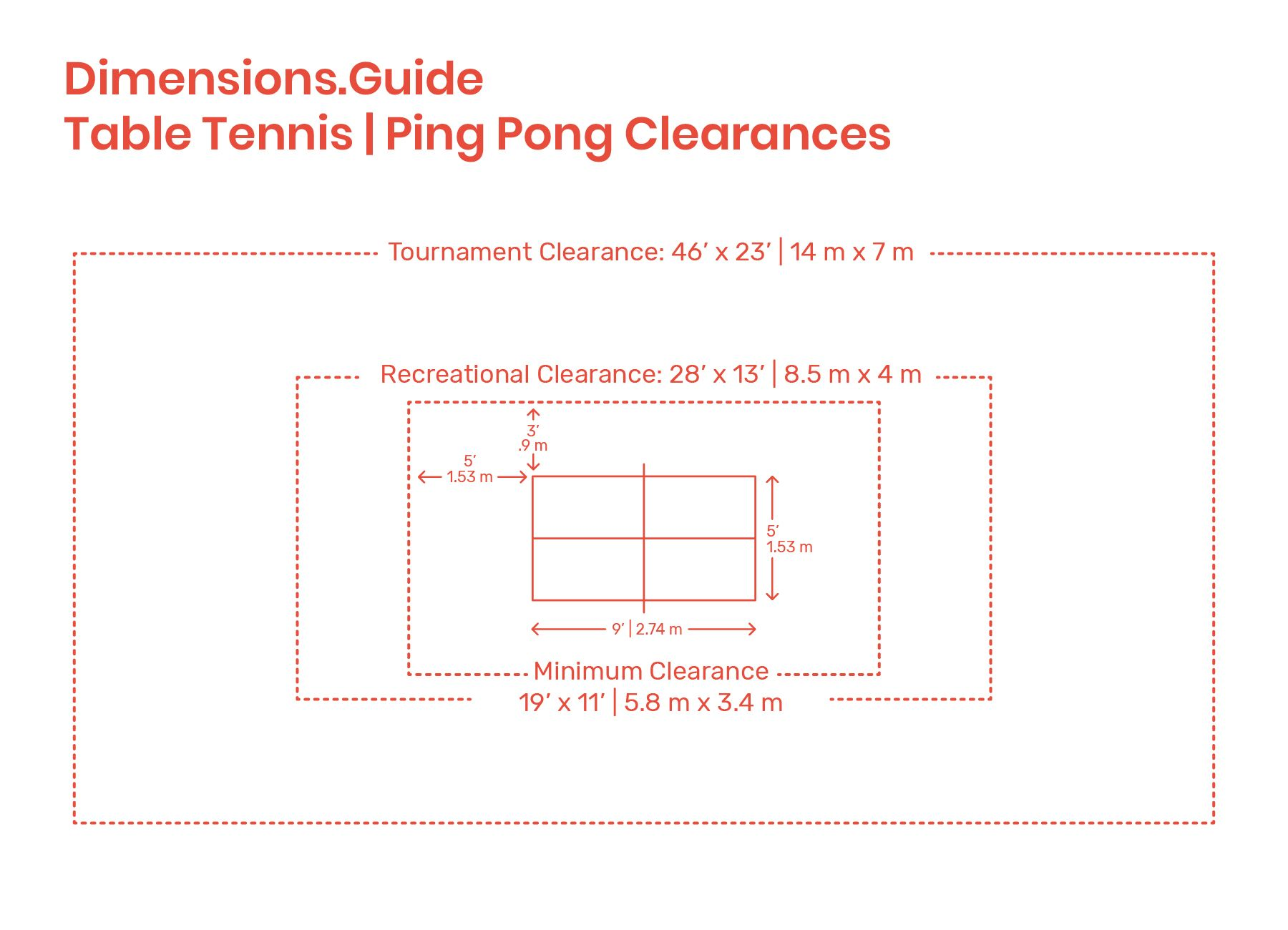 Table Tennis Ping Pong Clearances Table Tennis Table Tennis Dimensions Ping Pong