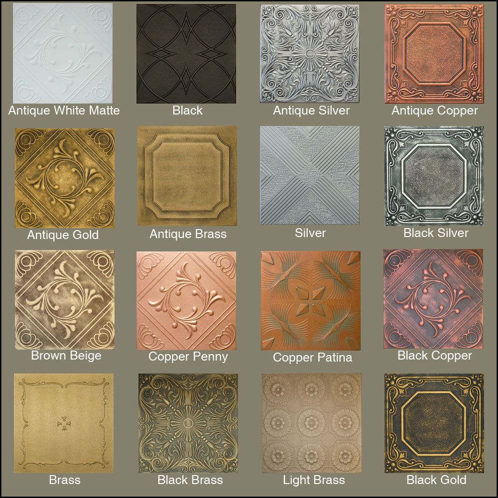 Faux tin painted tiles painted tin look faux ceiling tiles 20x20 faux tin painted tiles painted tin look faux ceiling tiles 20x20 diff colors 2 dailygadgetfo Image collections