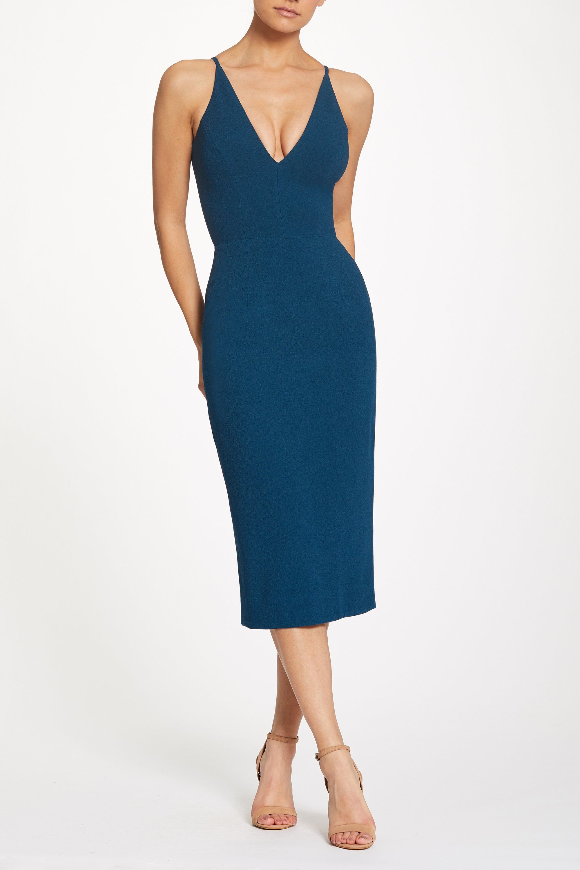 6ee35214862 Lyla Plunging Crepe Midi Dress in 2019