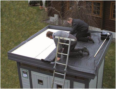 EPDM Dachfolie für Gartenhäuser Gartenhaus dach