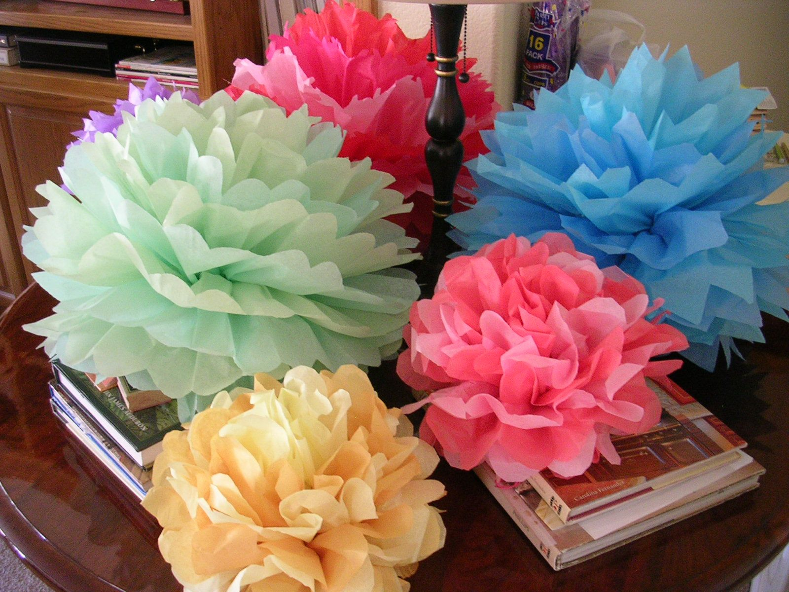 Make These Cute Tissue Paper Flowers To Line The Pathway To Your