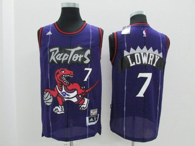 8c17724b7da Men's NBA Toronto Raptors #7 Kyle Lowry Purple Throwback Jersey ...