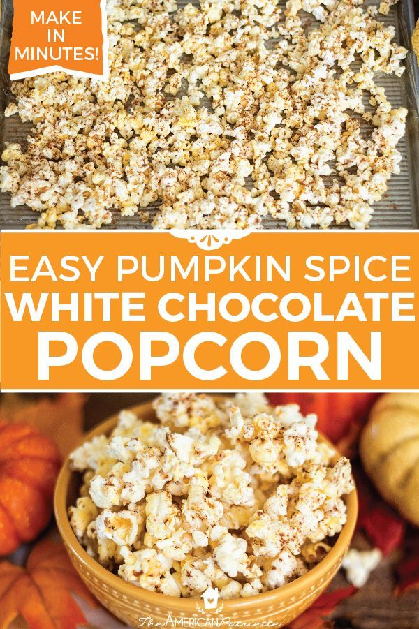 Three Ingredient Pumpkin Spice Popcorn Recipe Fall