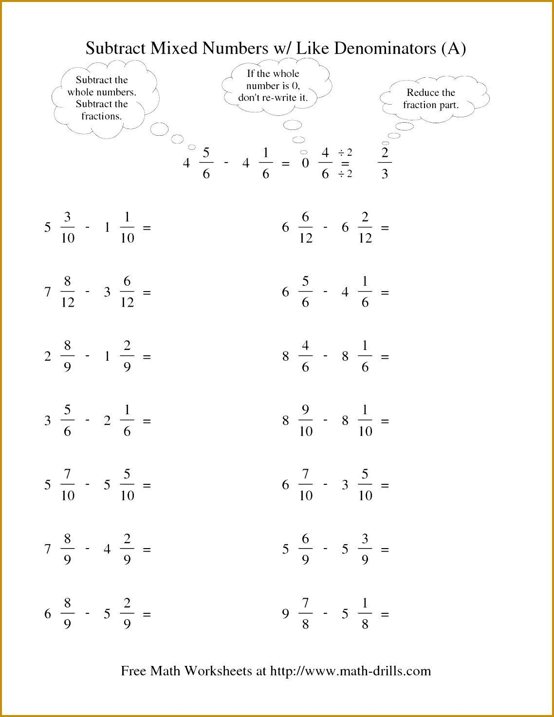 Decomposing Mixed Numbers Worksheet Reducing Improper Fractions Worksheet In 2020 Fractions Worksheets Mixed Numbers Adding Mixed Number