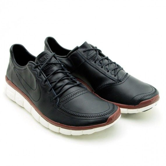 Nike Free 5.0 V4 Deconstruct Black Leather Cheap Mens Nike