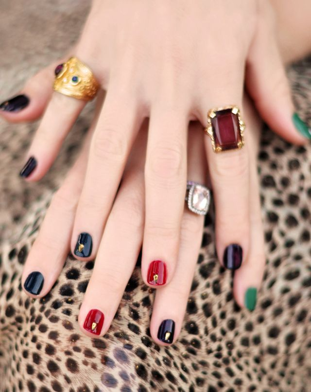 love Maegan : Bejeweled Nails and Jewel Tones Manicure Fashion + DIY ...