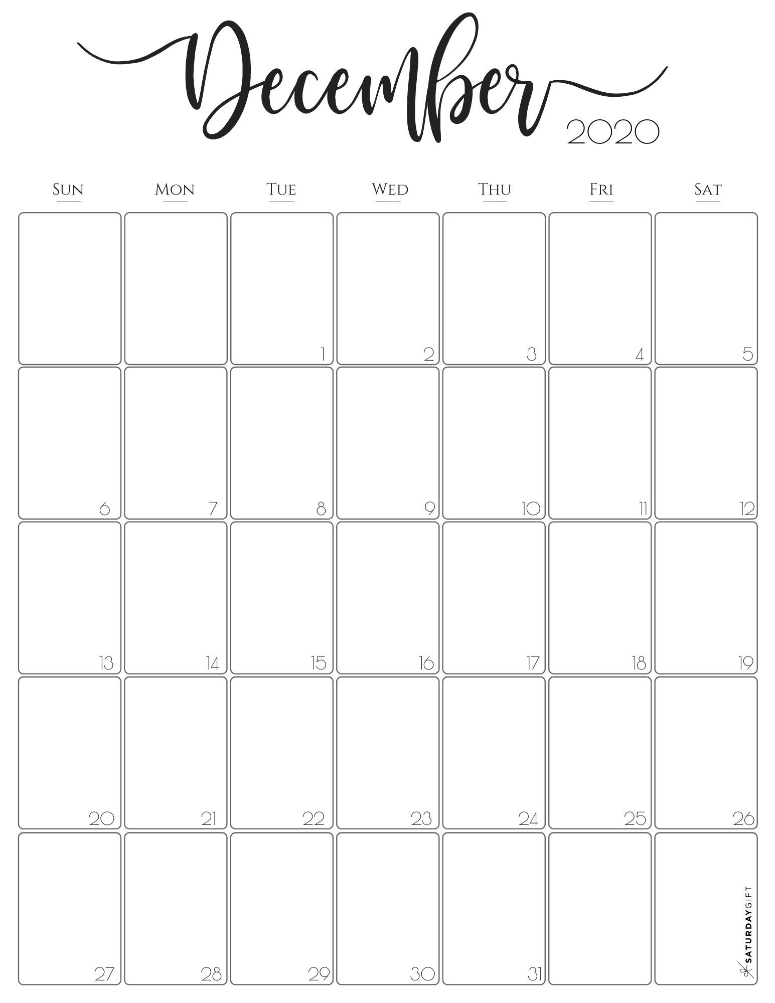 Stylish Vertical 2020 Monthly Calendar Free Printables In 2020 Monthly Calendar Monthly Calendar Printable Free Printable Calendar