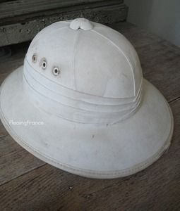 9284edb860789 FleaingFrance......1930 s French Colonial Hat from the days of Indochine.