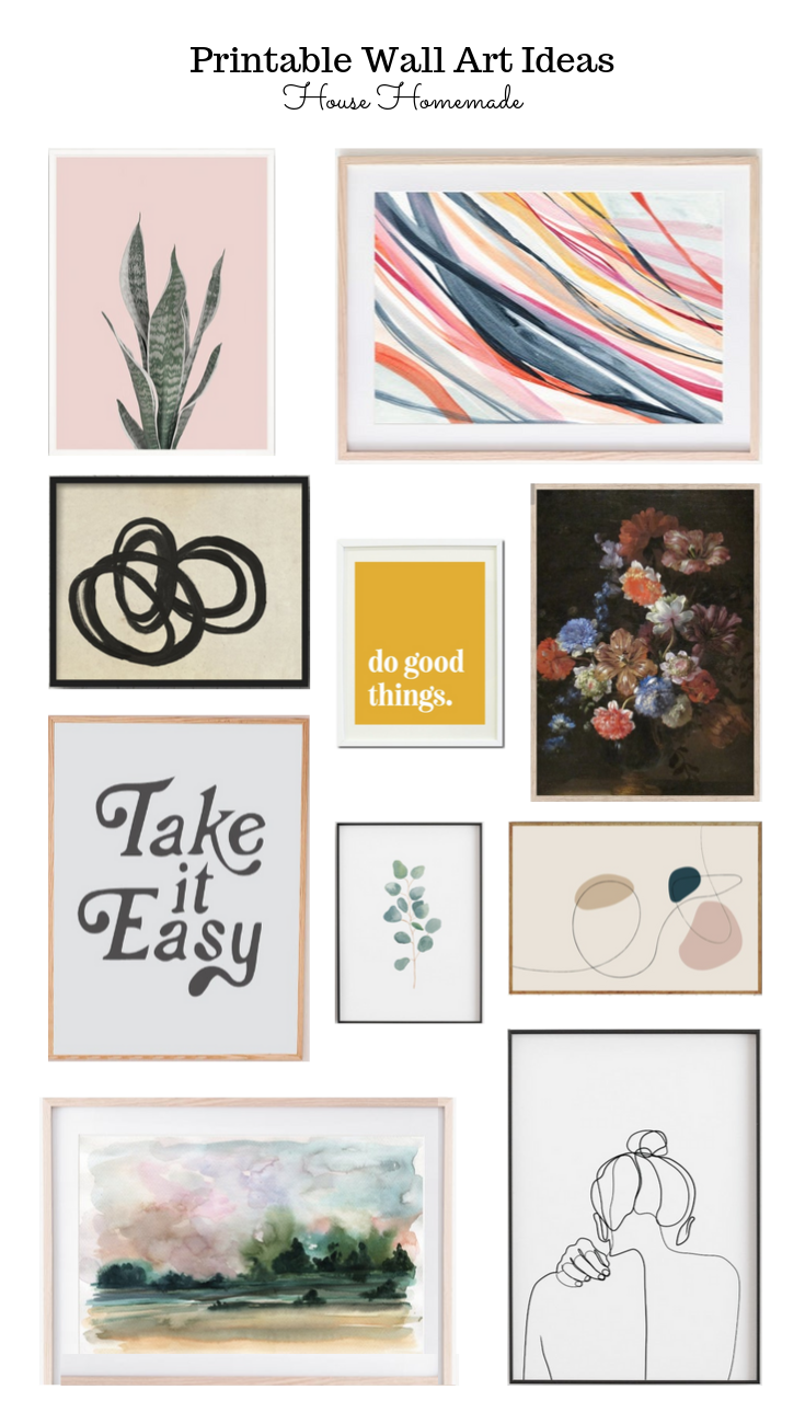 Printable Wall Art Pieces | Wall Art Print Outs For The Home