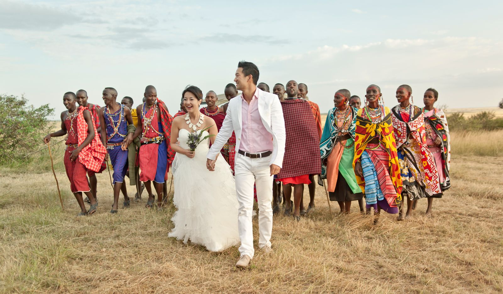 A couple from Hong Kong tie the knot in the Maasai Mara