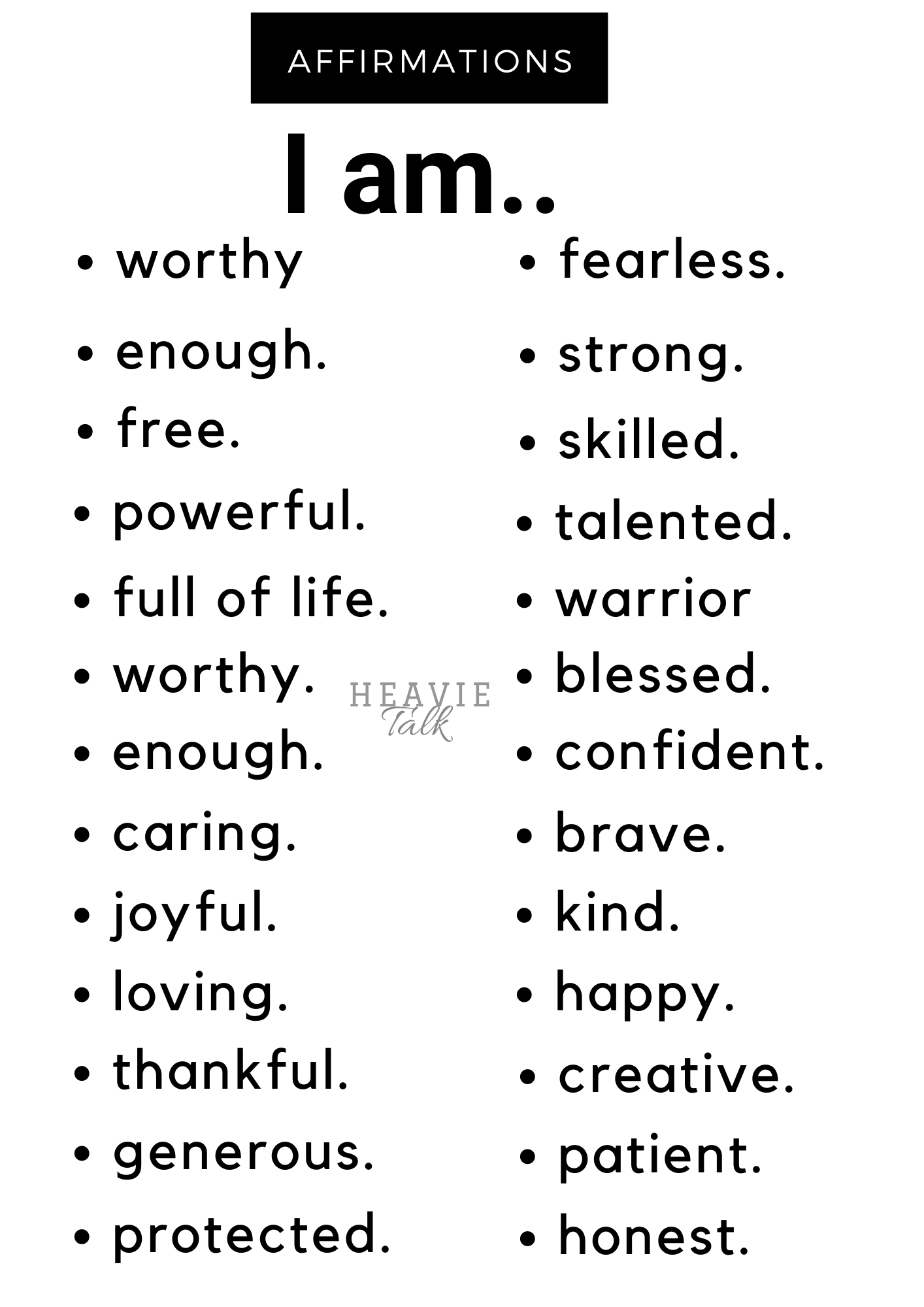 15 Uplifting Affirmations