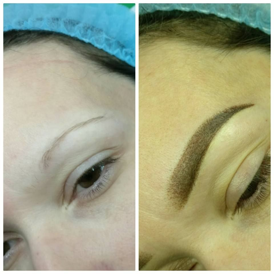 Permanent Make-up / Eyebrows before and after / Eyebrows natural ...