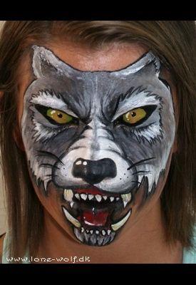 wolf face paint - Claire @Callie Smith@Katie
