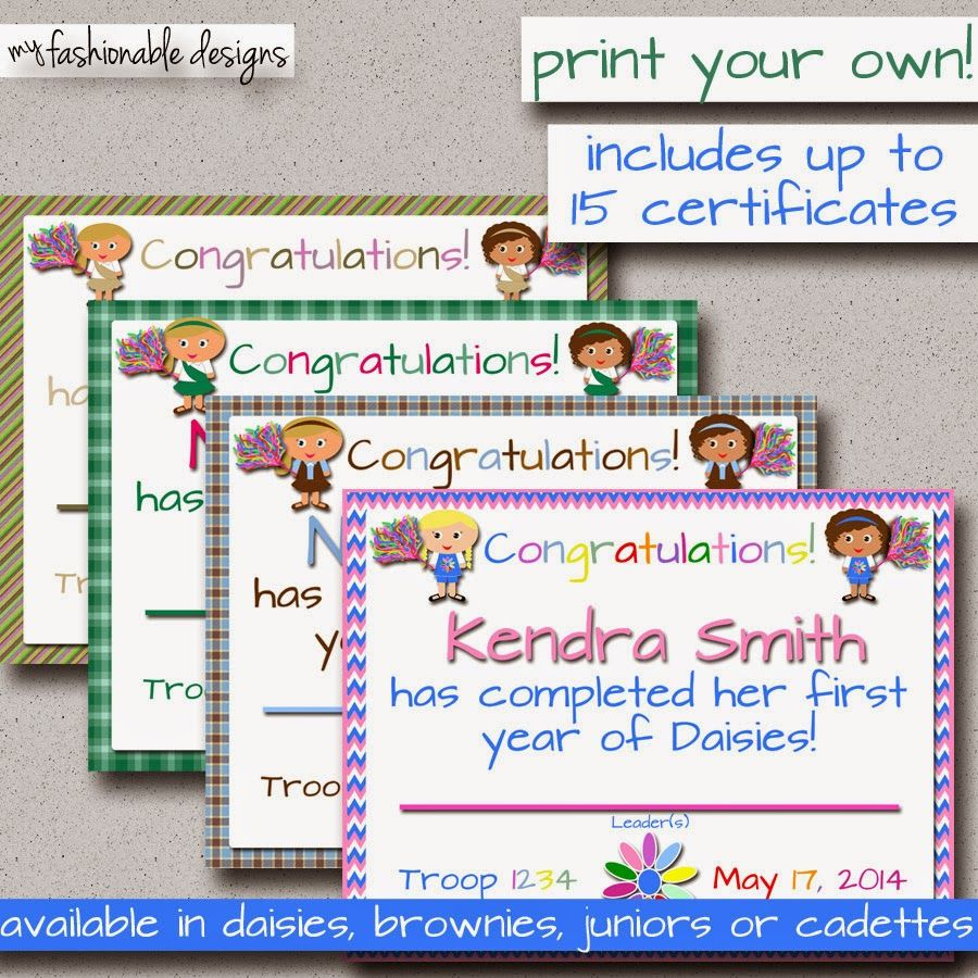 Girl Scouts 1st Year Certificate in my Etsy shop ...