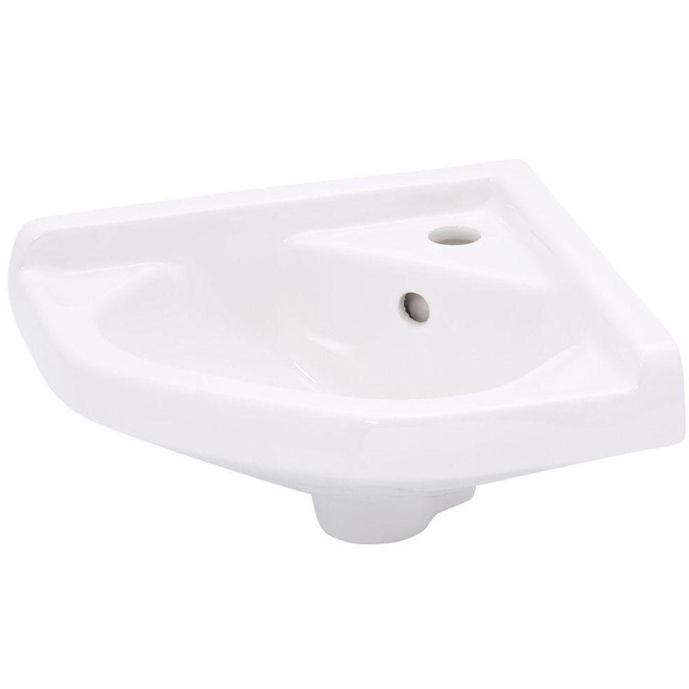 Elizabethan Clics English Turn Wall Hung Corner Bathroom Sink In White Imc 150wb The Home Depot 93