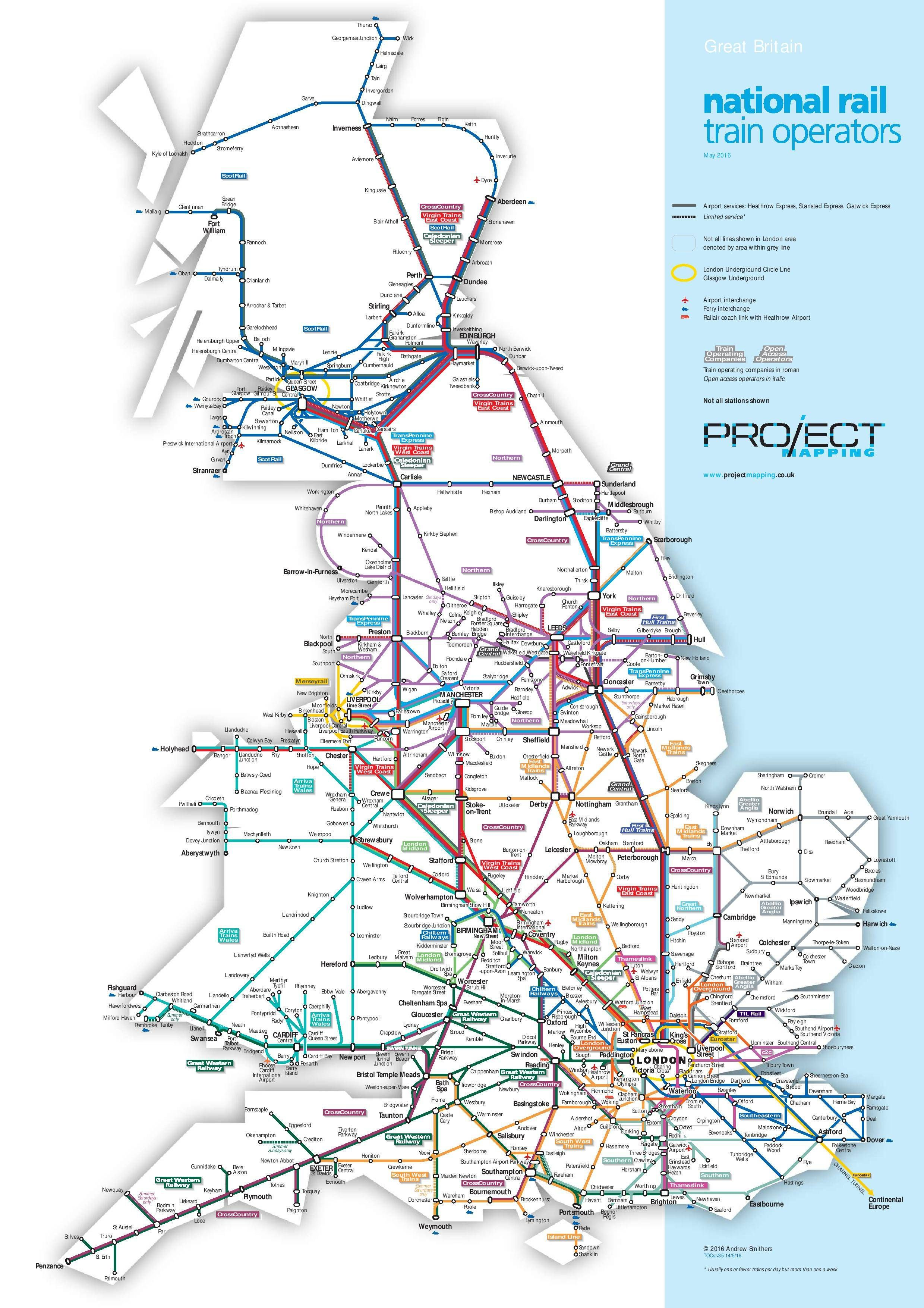 national rail map of the whole of the uk